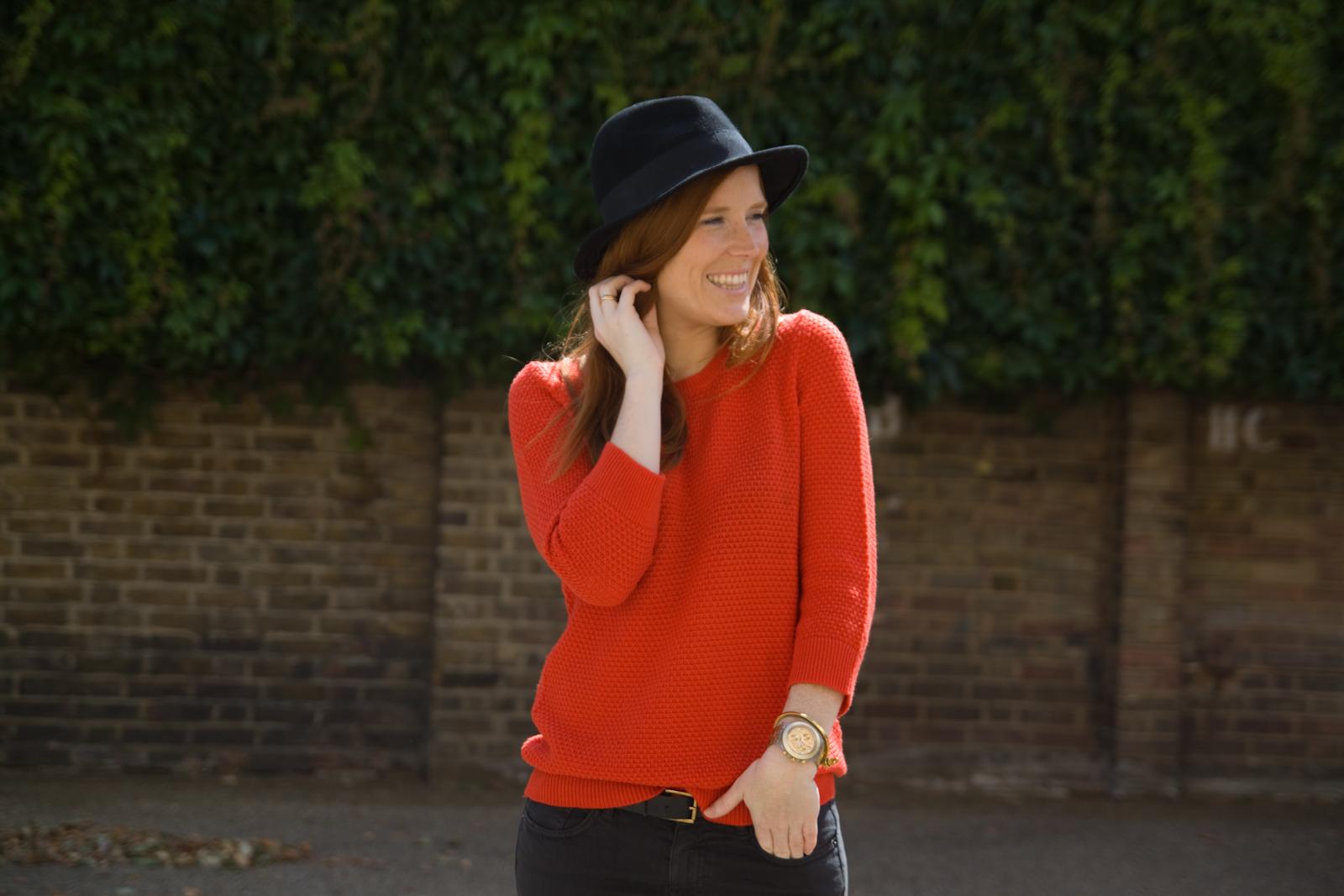 Gap  Jumper /  H&M  jeans and hat /  Zara  sandals