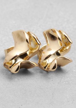&otherstories folded leaf earrings