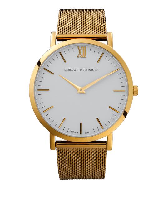 Larsson&Jennings gold chain metal watch
