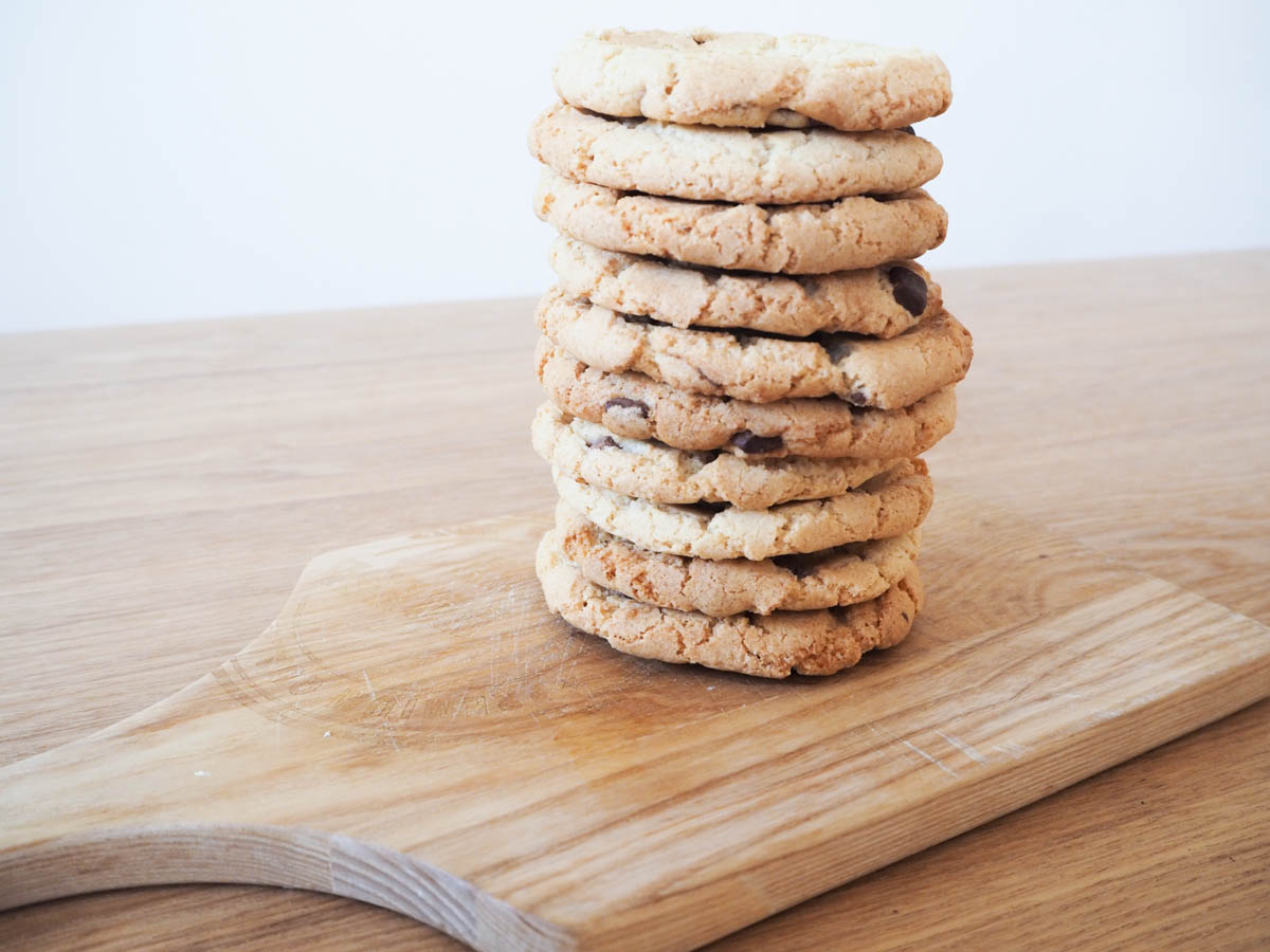 chocolat chip cookies in thermomix