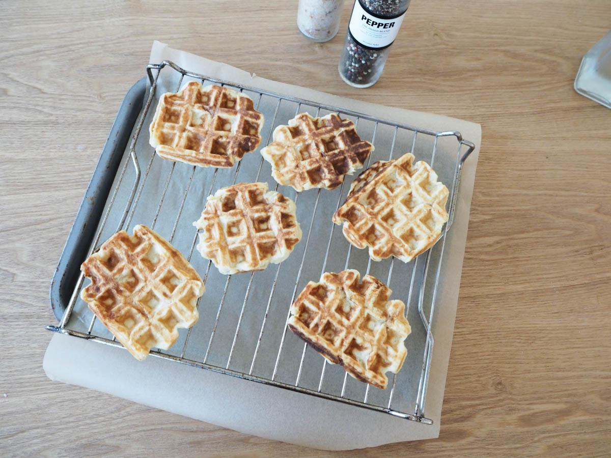 savoury potato waffles
