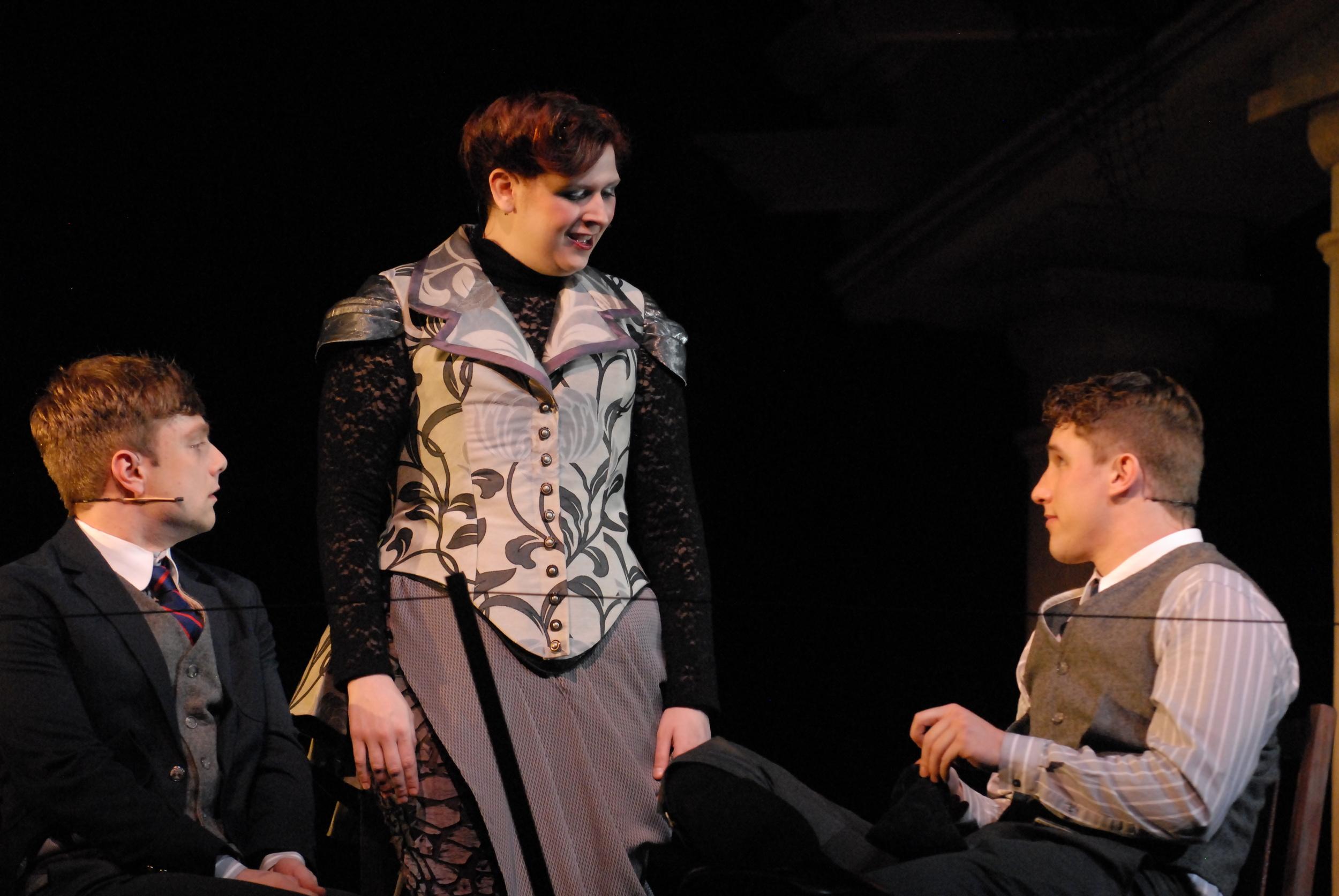 Moritz (Joe Boersma), Frau Gabor (Lucy Chmielewski) and Melchior (David Kaplinsky)