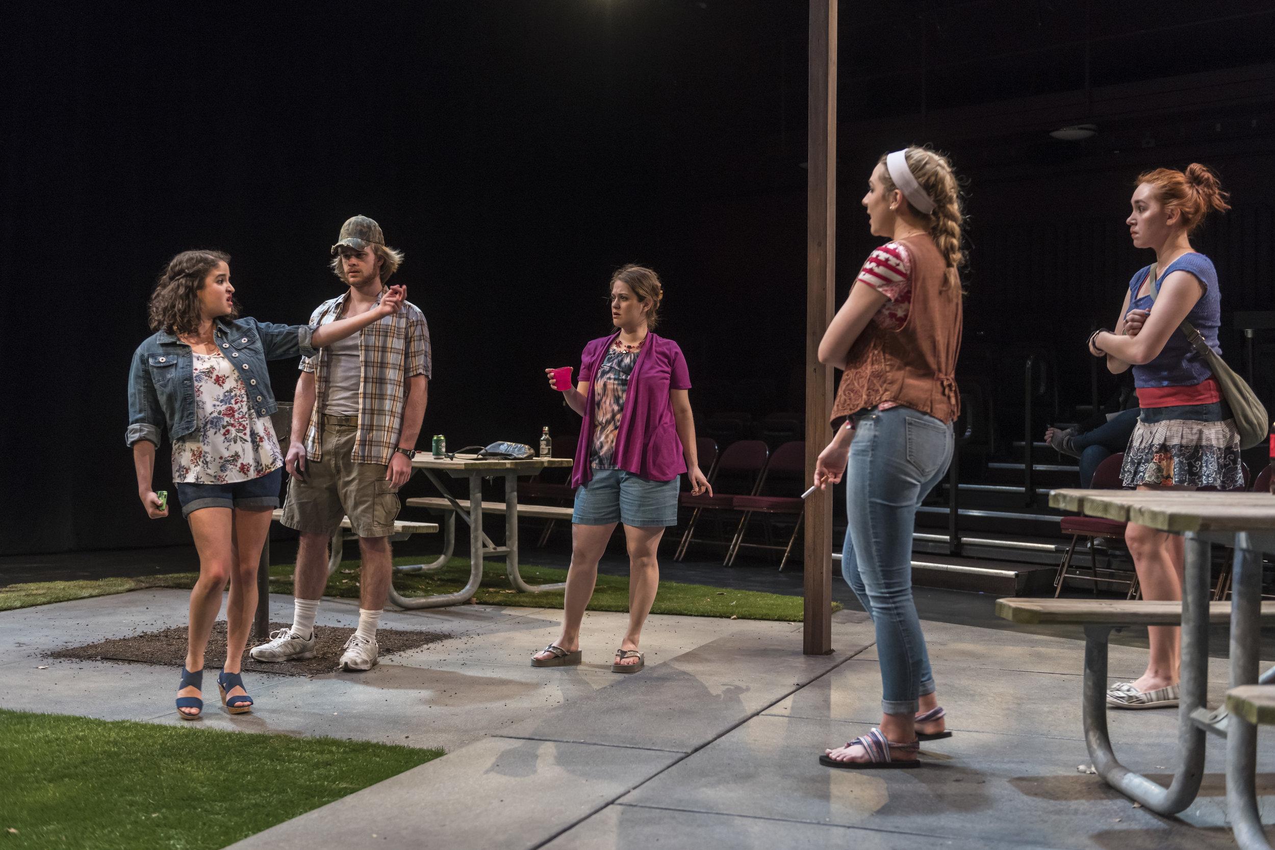 Barbara (Esther Fishbein), James T (Patrick Weber), Lillie Anne (Elana Weiner-Kaplow), Adlean (Kathleen Sullivan) and Marie (Diana Gardner)