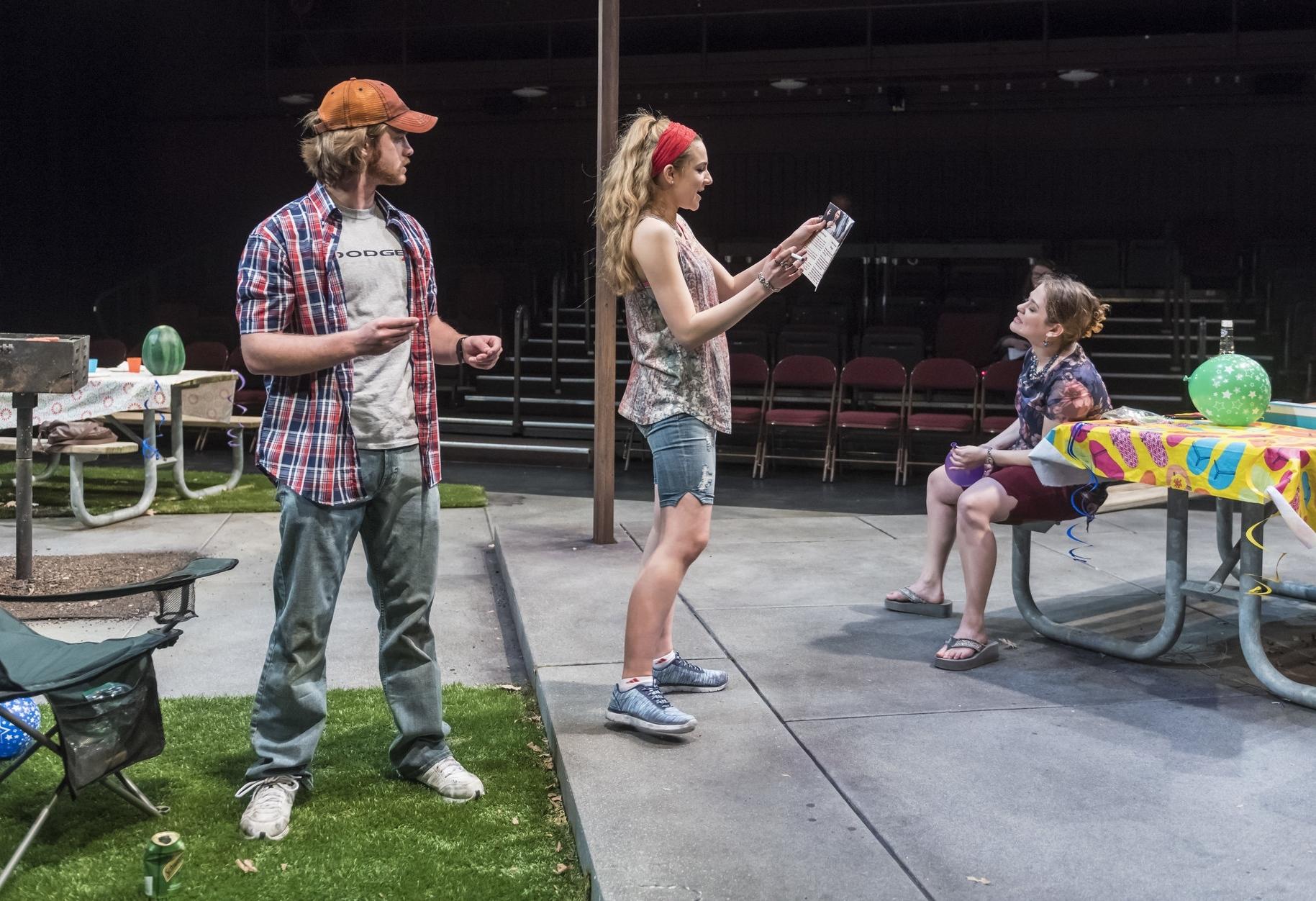 James T (Patrick Weber), Adlean (Kathleen Sullivan), and Lillie Anne (Elana Weiner-Kaplow)