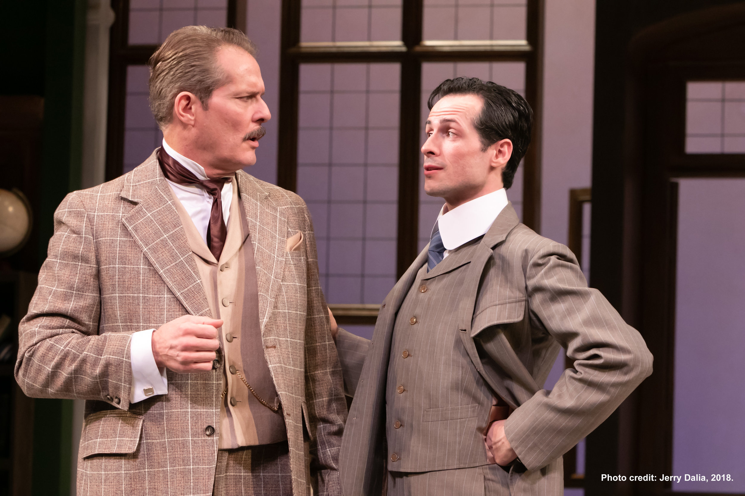 Colonel Francis Chesney (David Andrew MacDonald) and Jack Chesney (Aaron McDaniel)