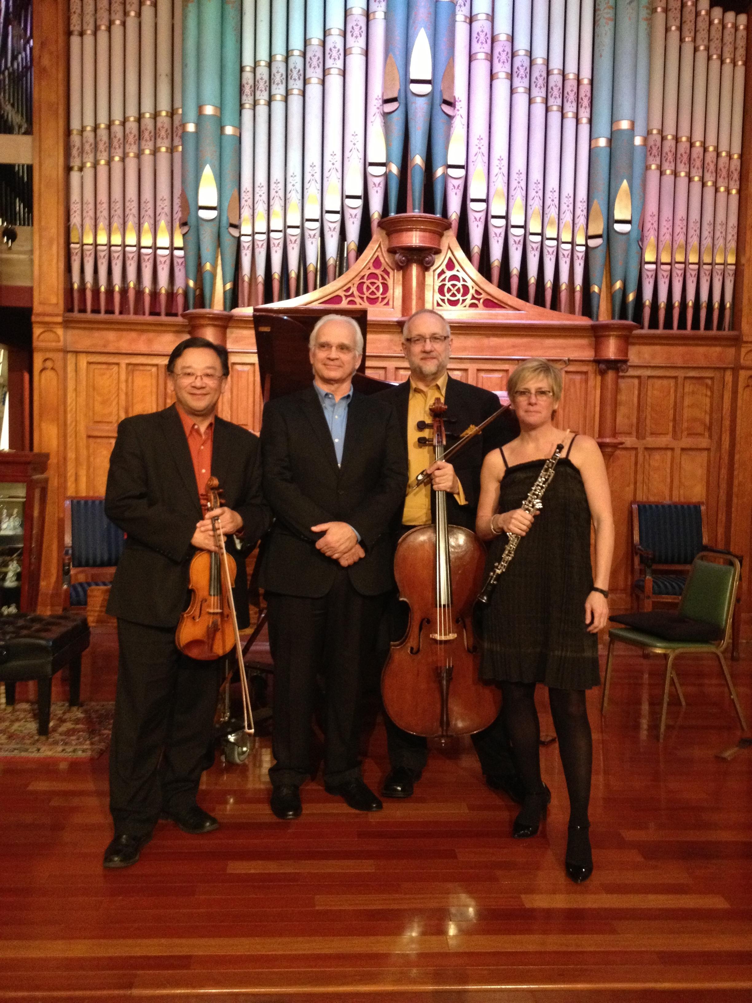 Deb Stevenson,  oboe ; Thomas Yang,  violin ;   Steven Houser,  cello ; George Radosavljevic,  piano