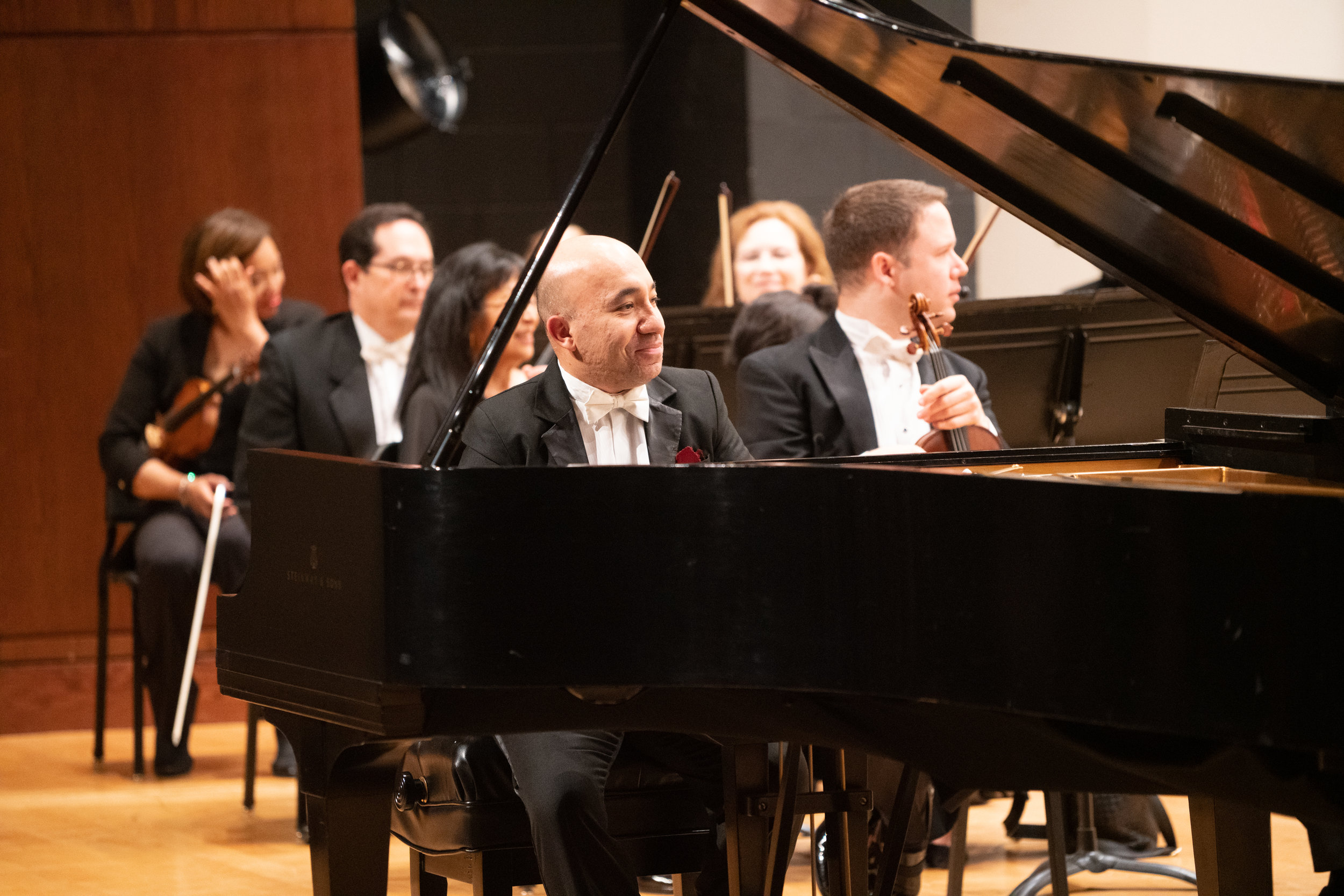 Guest Soloist Wael Farouk performs Rachmaninov's Piano Concerto No. 3 with the Lake Forest Symphony at the James Lumber Center.