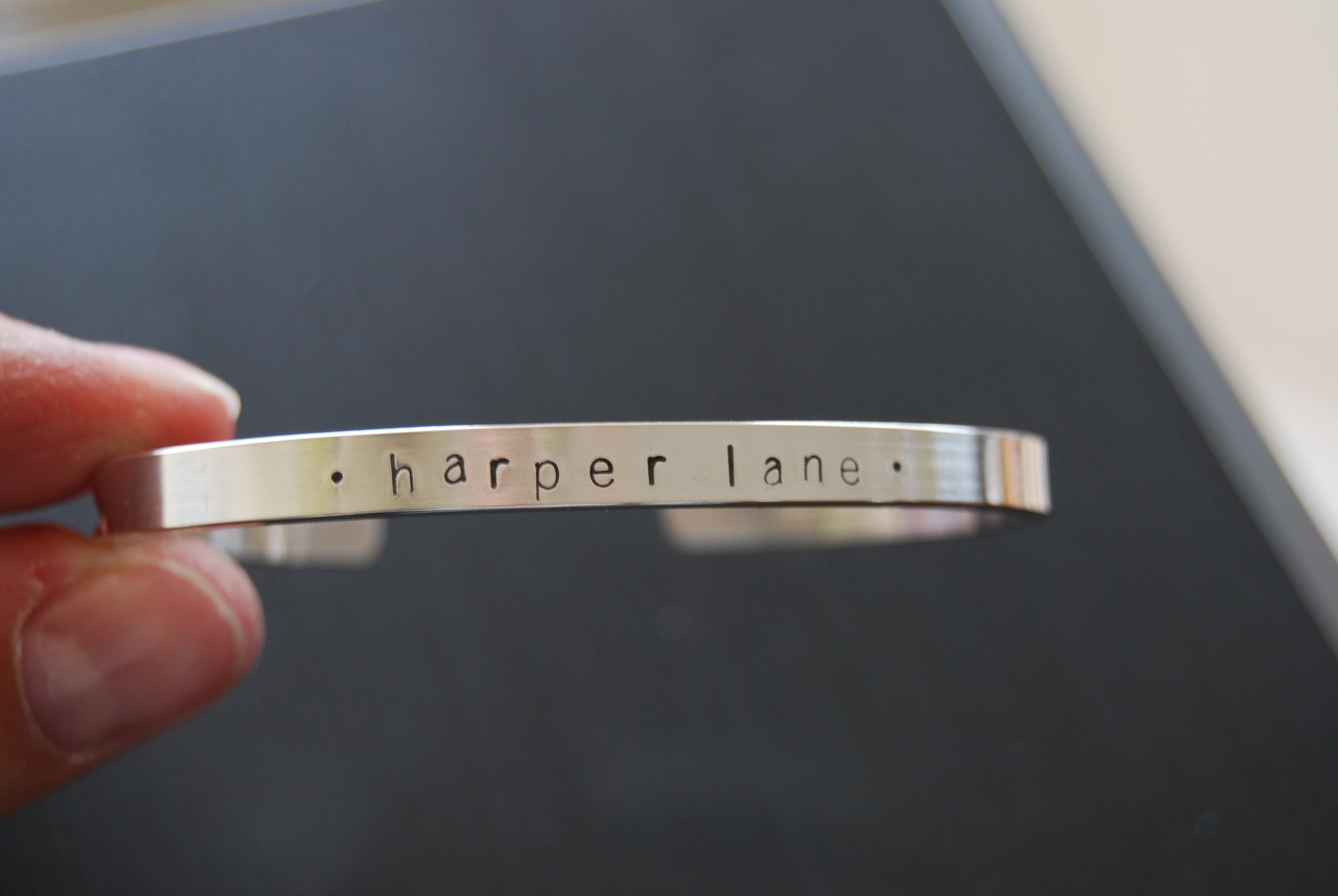 Personalized Skinny Cuff Bracelet