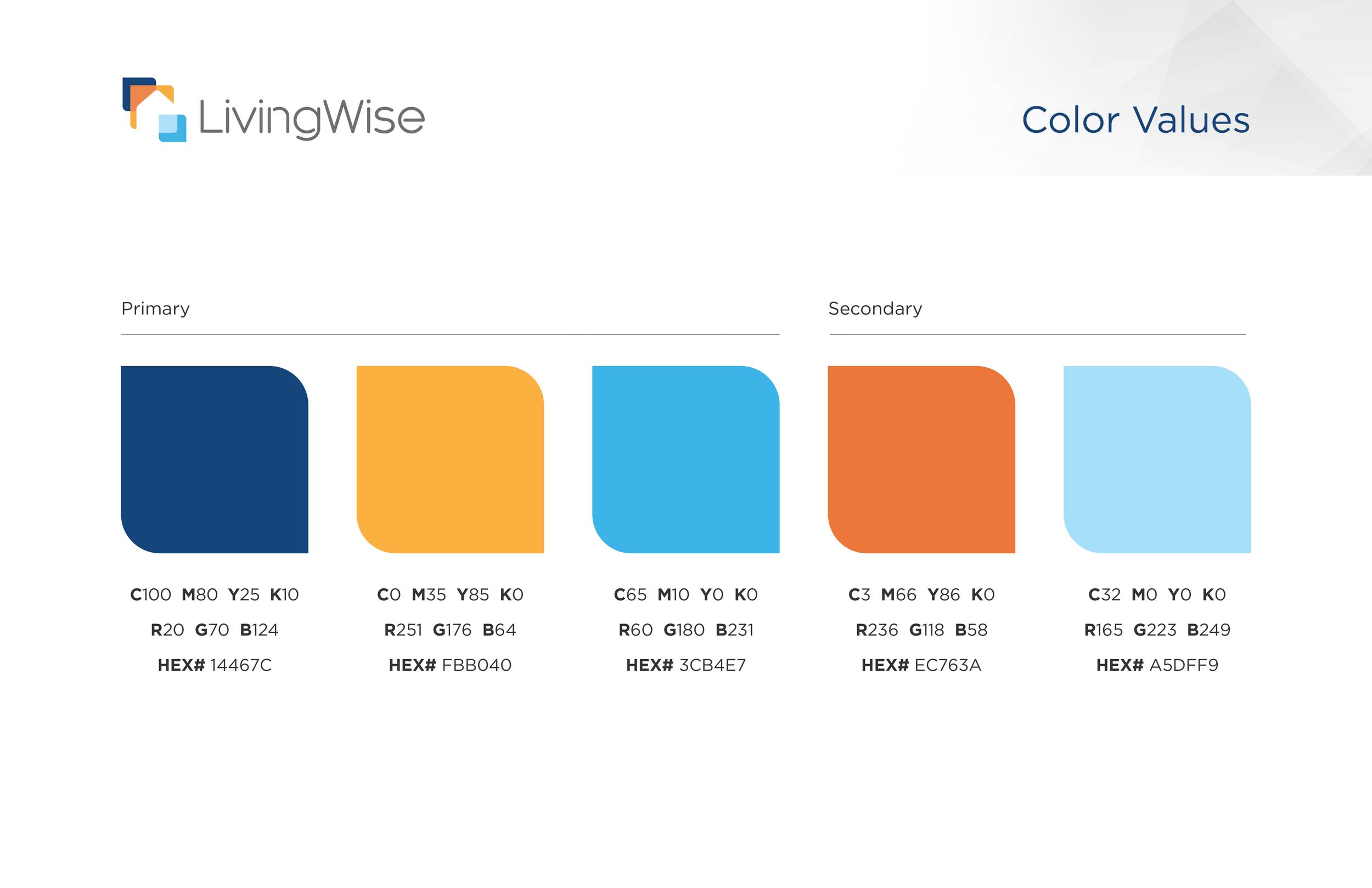LivingWise color scheme
