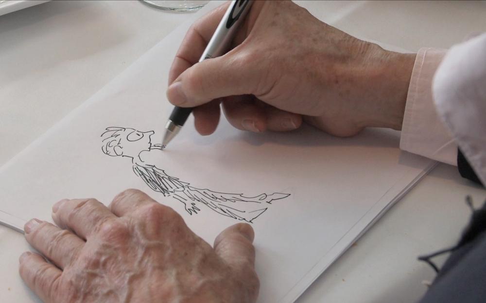 Jules Feiffer Drawing Milo