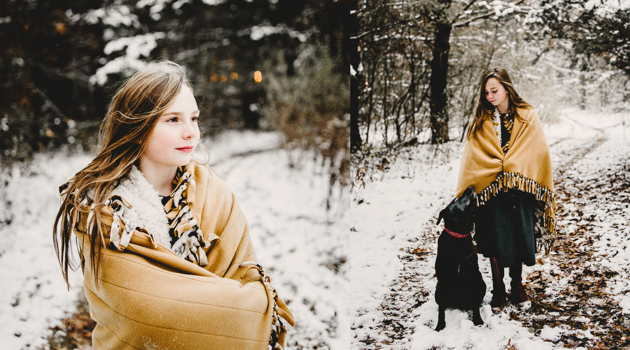 Mom and Daughter Winter Snow Family Photo Session with Dog in Rochester MI  (2).jpg