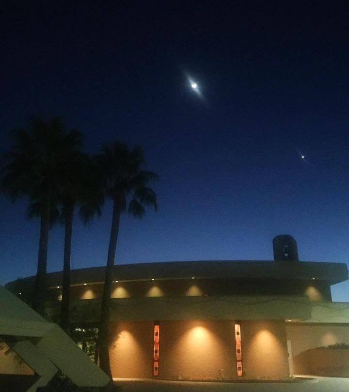 Nighttime view of Camelback SDA Church