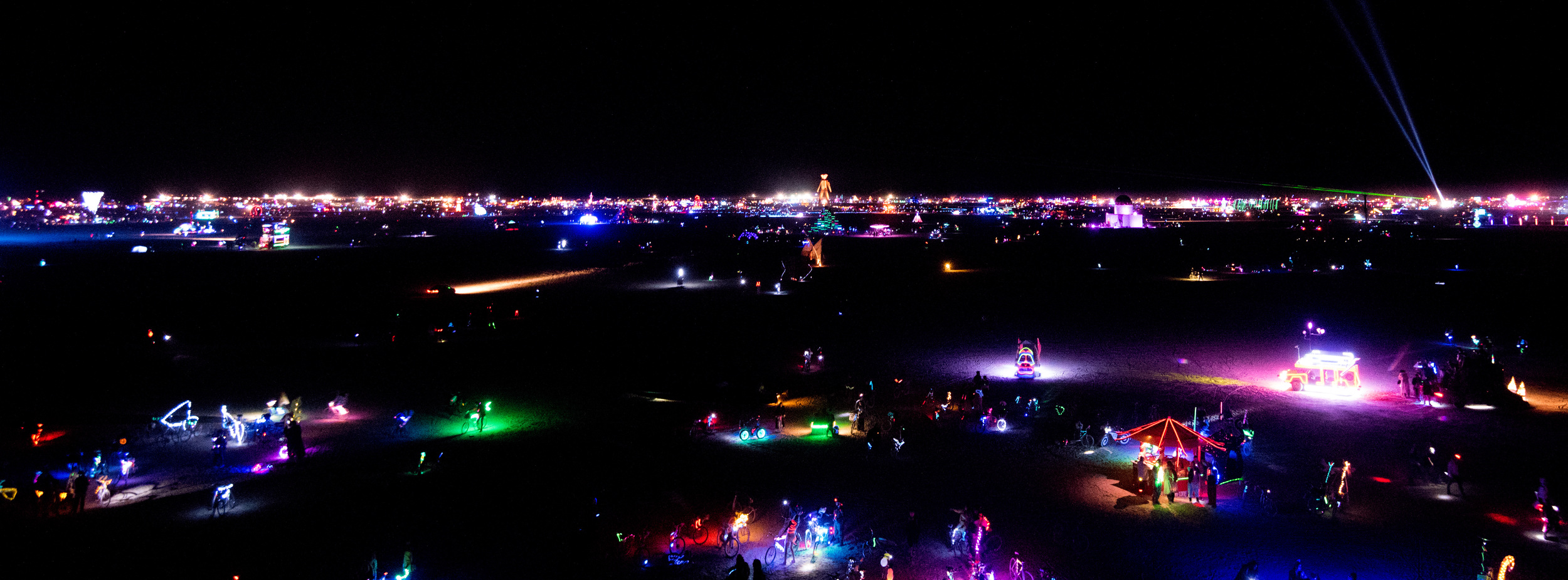 The never ending party on the Playa.( click on image to enlarge)