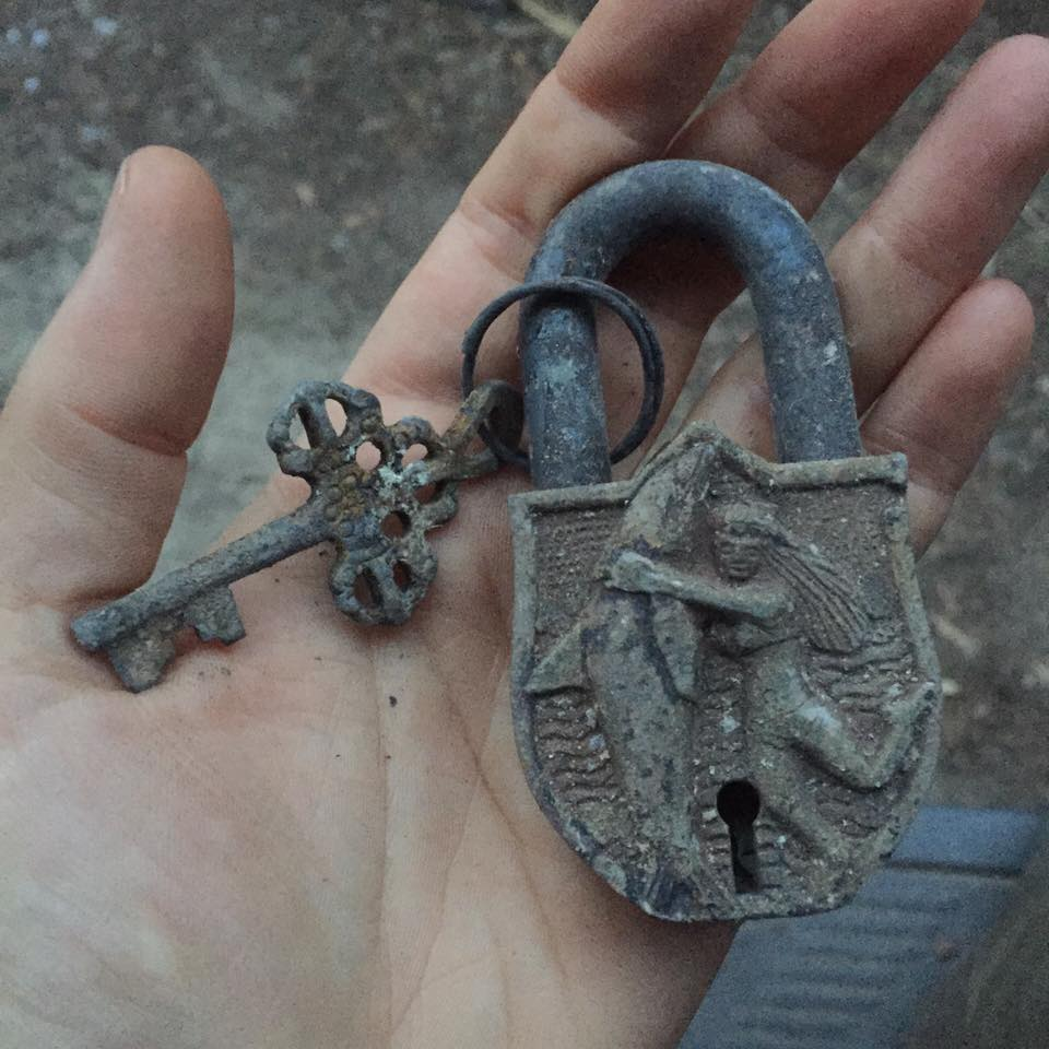 Lock found in house ashes