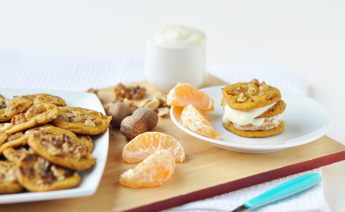 Carrot cake breakfast blinis