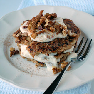 spiced apple and date and walnut pancake