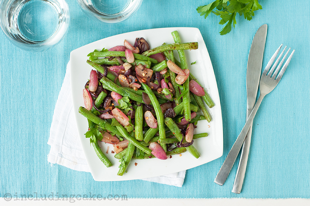 Recipe: Green beans and radishes