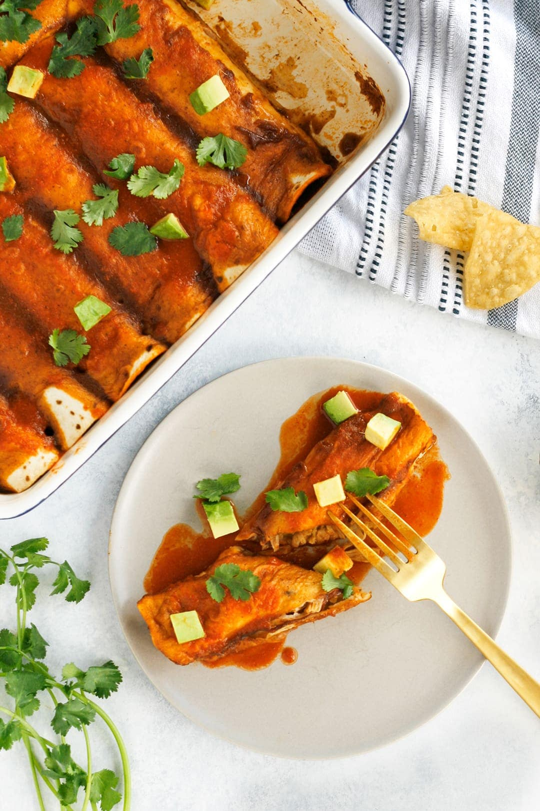 Vegan Enchiladas with Jackfruit and Black Beans - Well Vegan