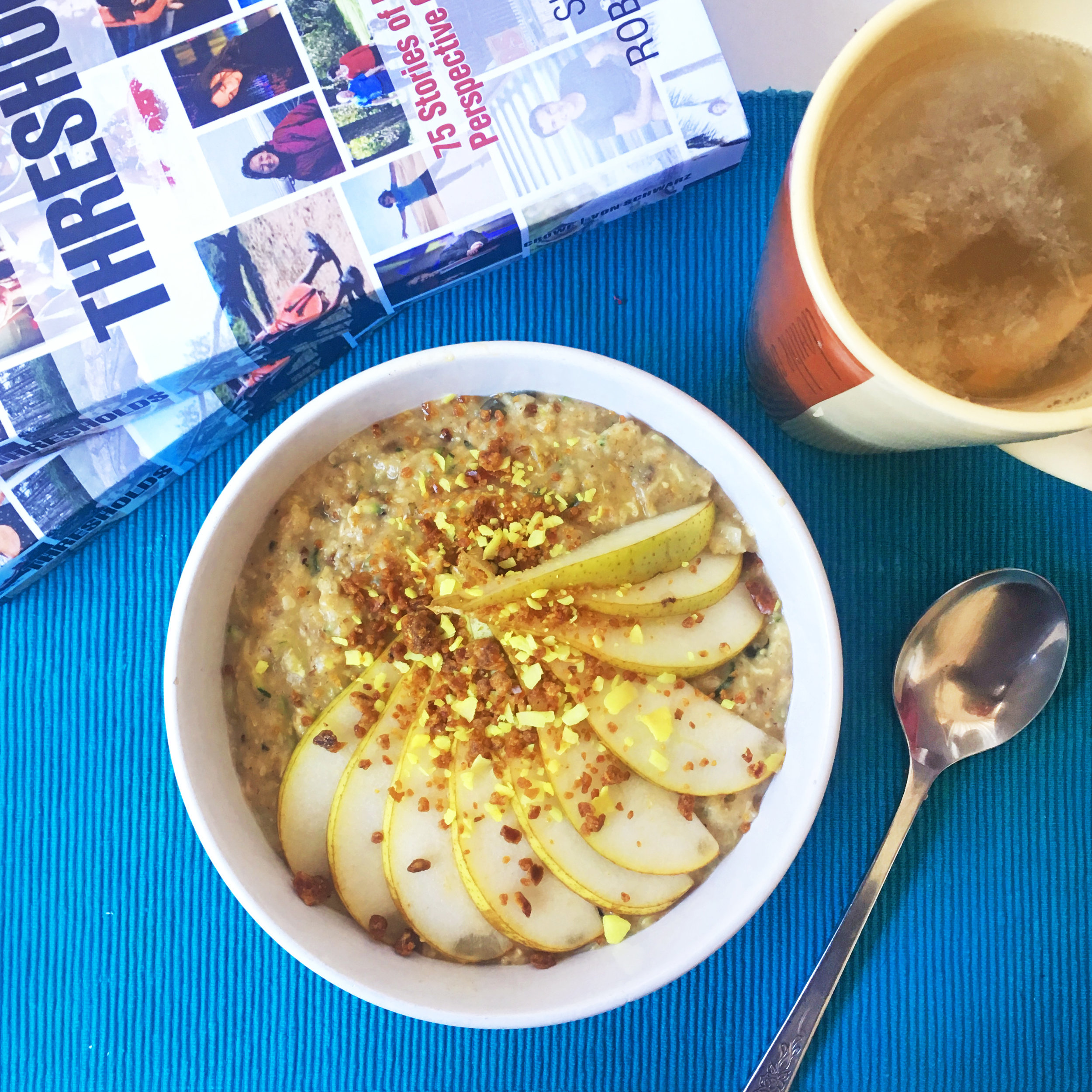 recipe: Pear Porridge- with 'super boost' options