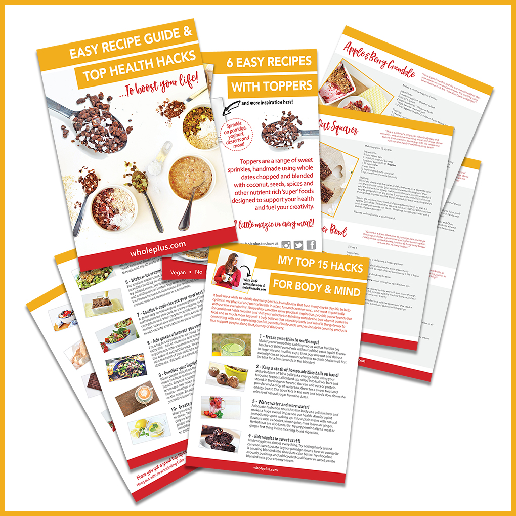 Free Recipe Book! - Grab your free recipe & health hacks guide…You don't even have to enter you email - just click the pic and download! We simply want to inspire creativity for as many people as possible!