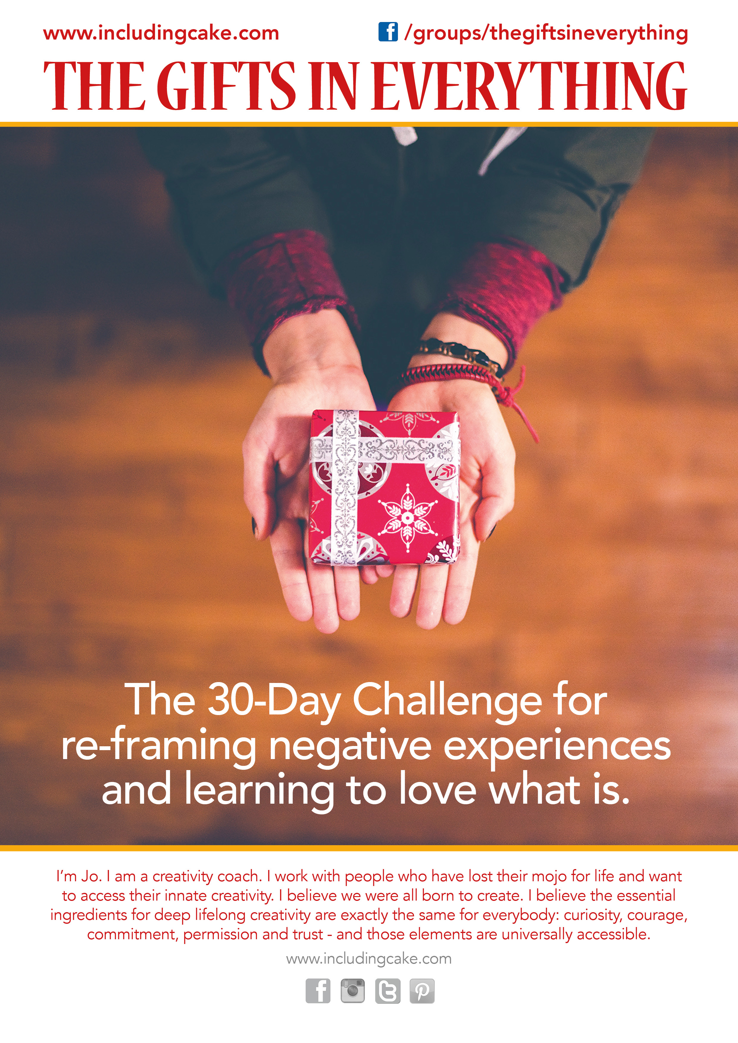 The Gifts In Everything - The 30 Day Challenge for re-framing negative experiences and learning to love what is.