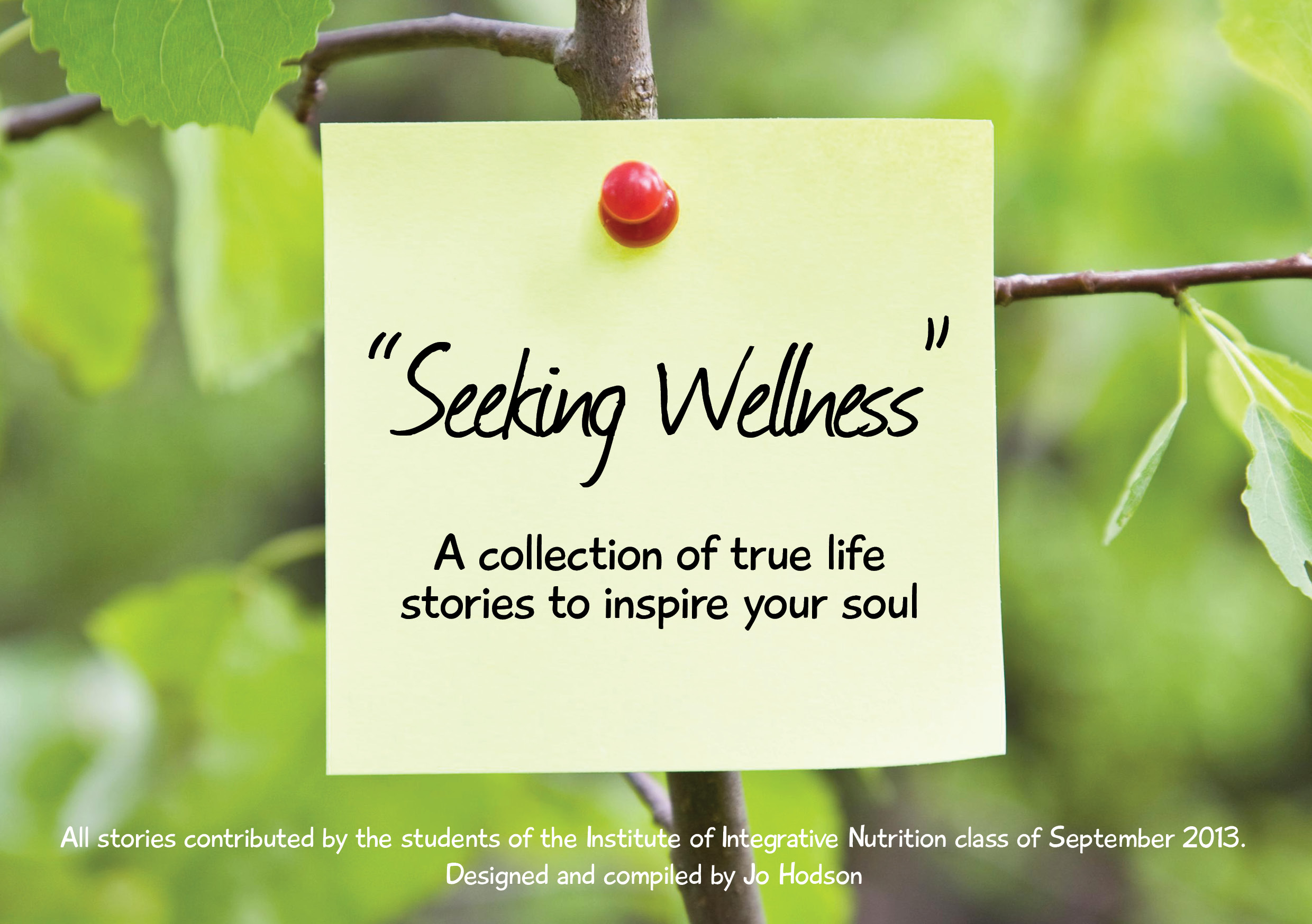 Seeking Wellness - A collection true stories to inspire you soul. A collaboration by the graduates of The Institute of Integrative Nutrition 2013.