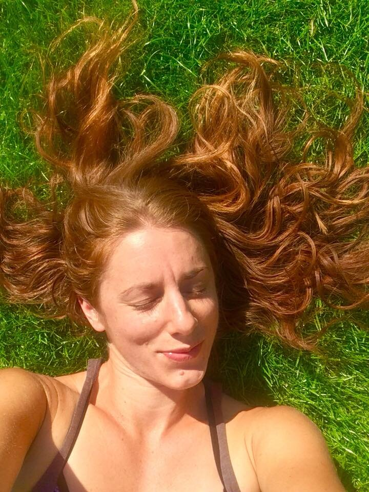 Silly selfie taken on the lawn at my old house a few weeks before I loved last year…