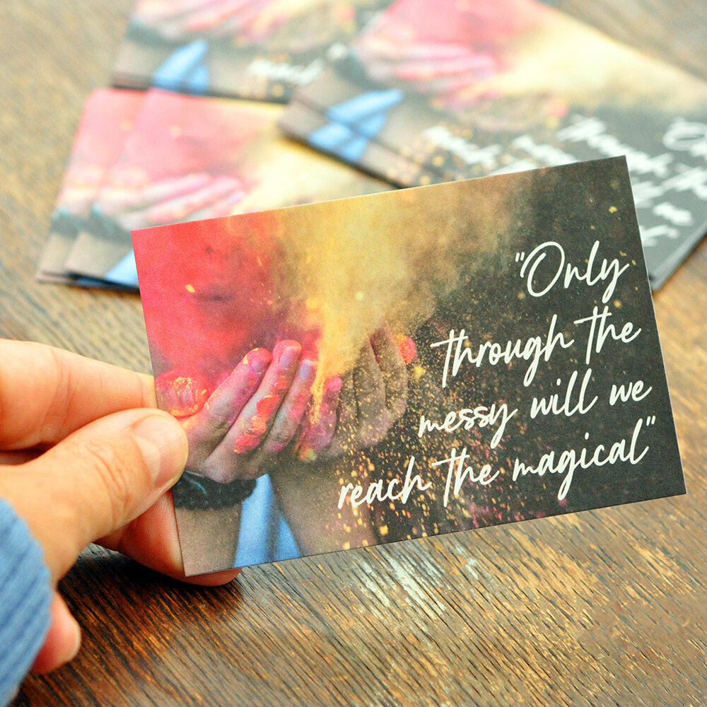 Buy Messy Magic Cards - Life is a dance of the messy and the magical to live life on your own terms. Who do you know why needs a reminder of the power of #messymagic in their lives?