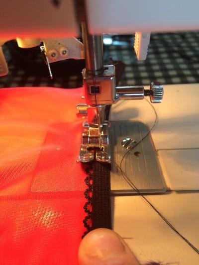 attach elastic with zig zag stitch