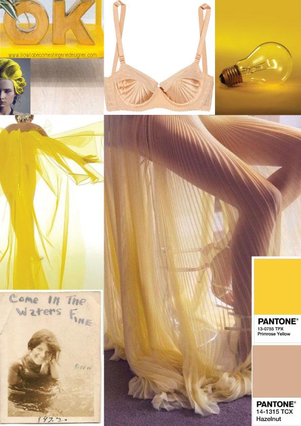 ss17 trends primrose yellow meets hazelnut (lingerie by la perla/john paul Gaultier)