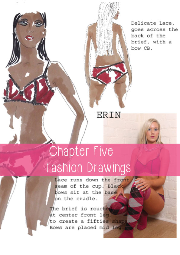 fashions drawings from how to become a lingerie designer