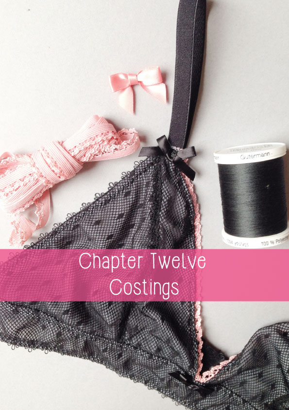 working out costings for lingerie