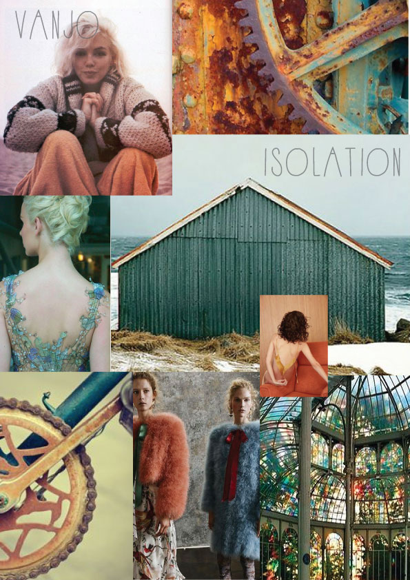 First look at inspiration of mood board for Vanjo Lingerie