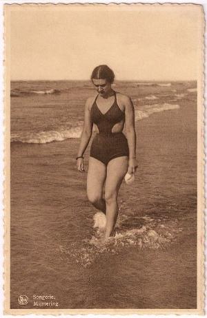 Vintage cut out swimwear