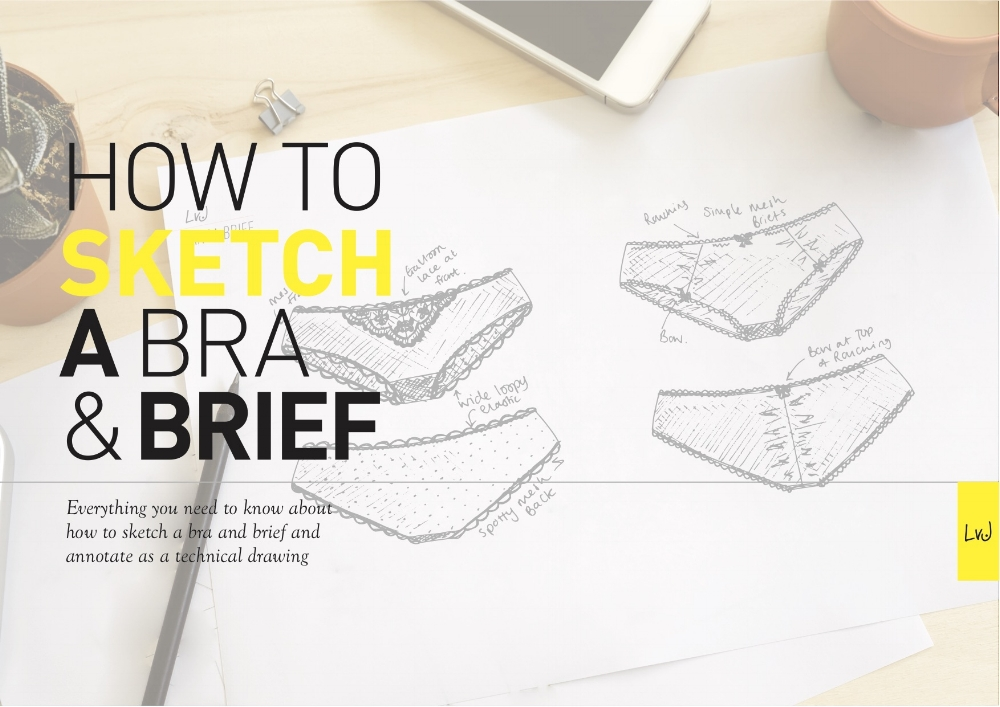 how to sketch a bra and brief