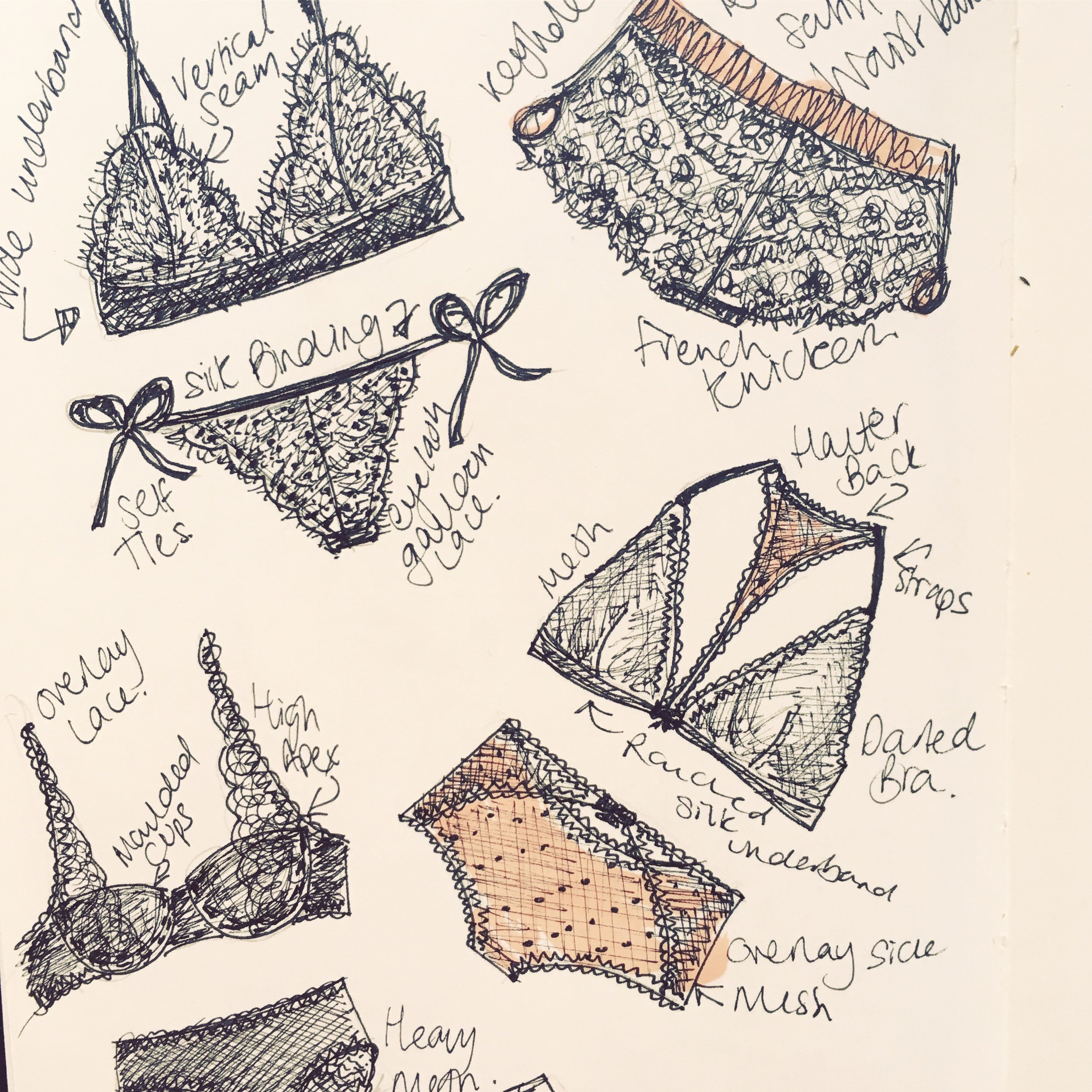 lingerie sketches