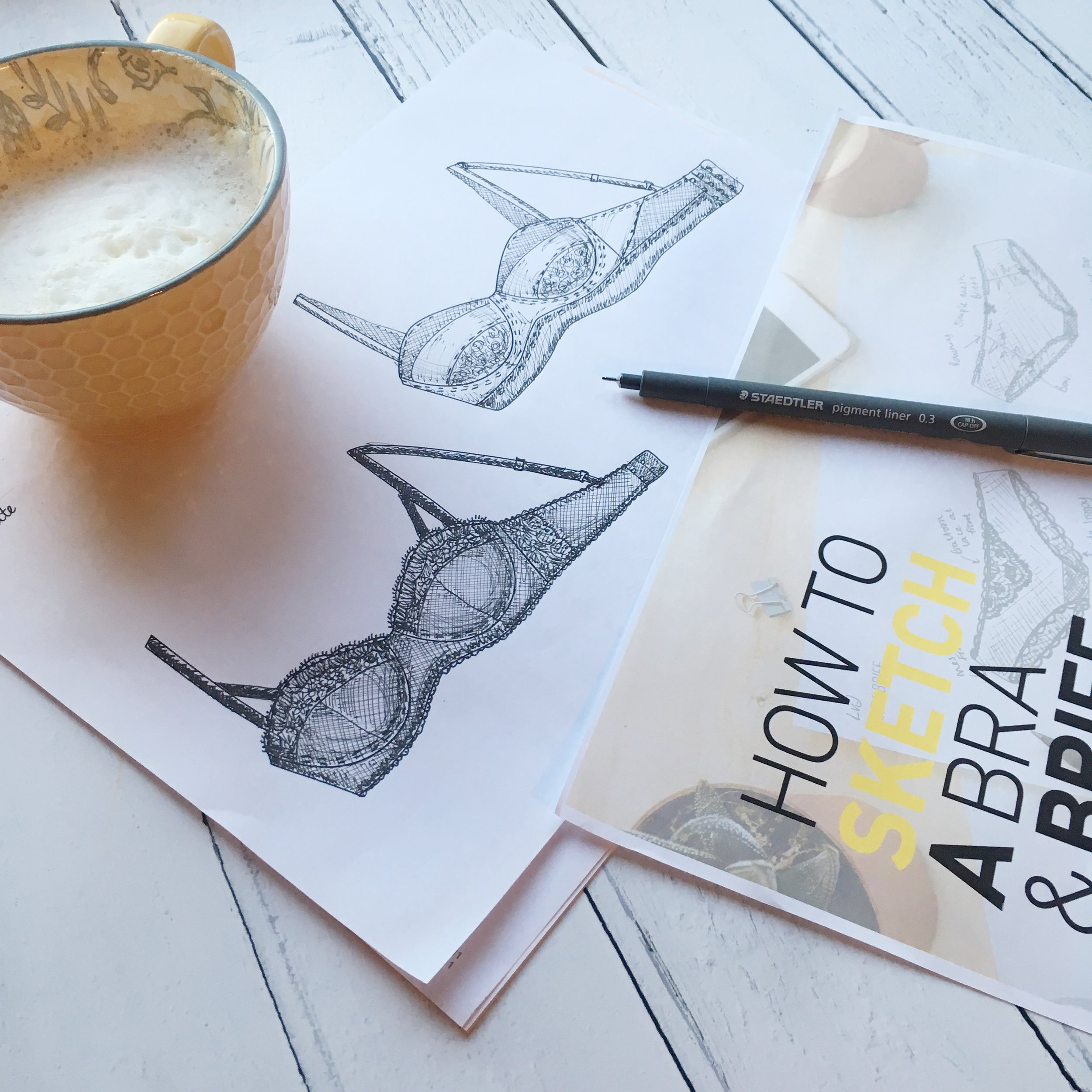 how to draw a bra and brief