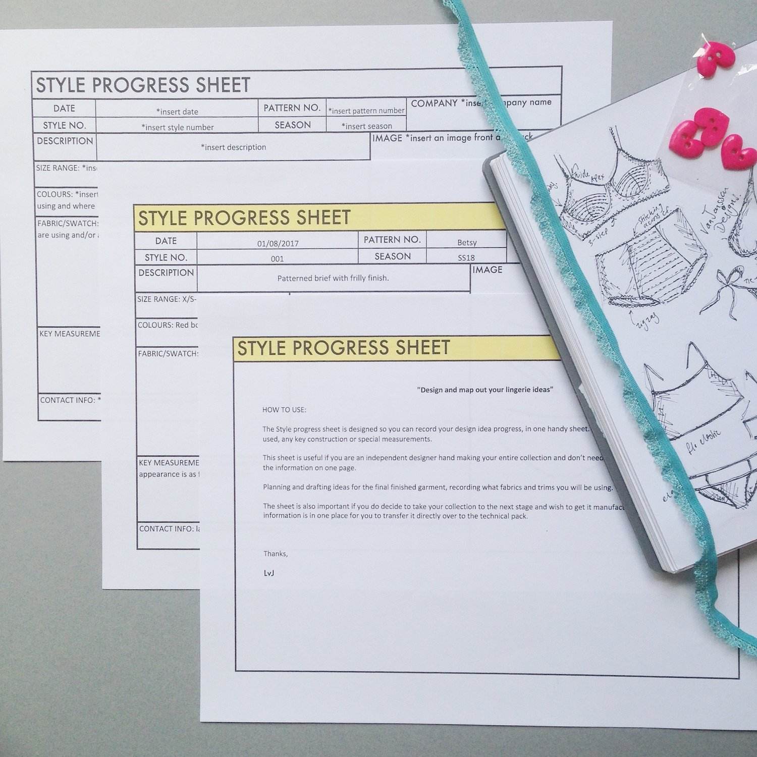This  progress style sheet  is available to buy in the same pack as the time line