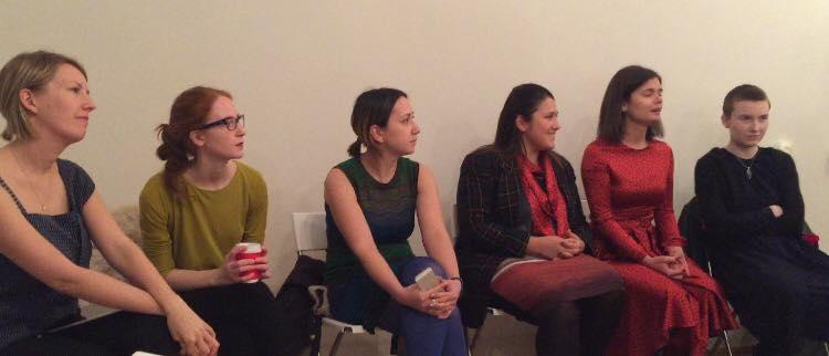 Round table with Kitty Brandon James, Anna Mokhova, Zhanna Bobrakova, Evgeniya Chassagnard, Ksenia Lukina, Yanina Chernykh.