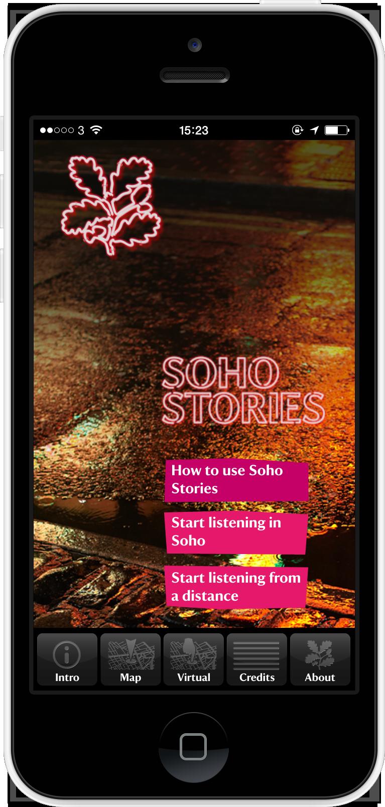 'Soho Stories' app - for National Trust