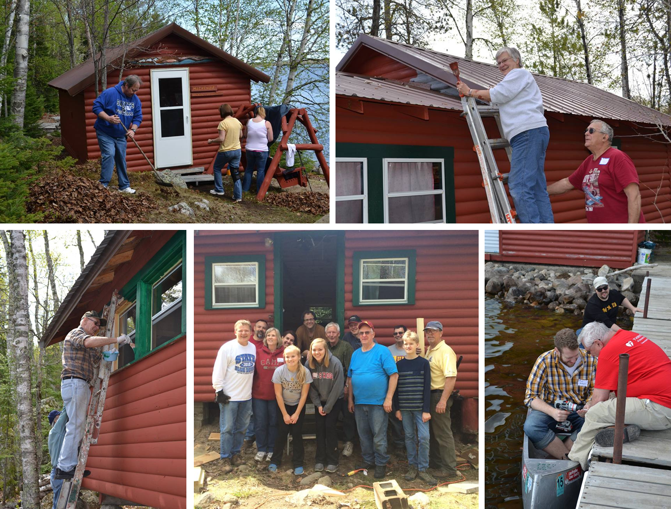 Click the collage above to view more photos from Work Day!