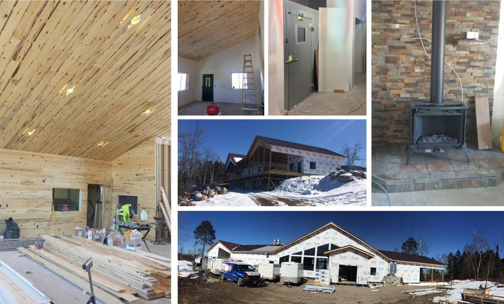 Click the collage to view more photos of the Vermilion Dining Hall progress.