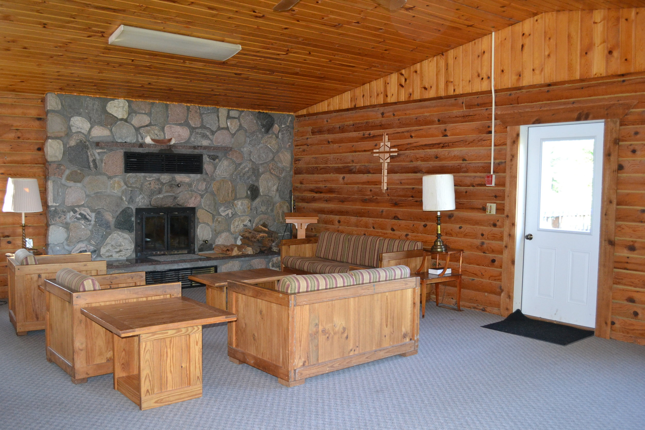 Gathering area of Retreat Center at Camp Hiawatha