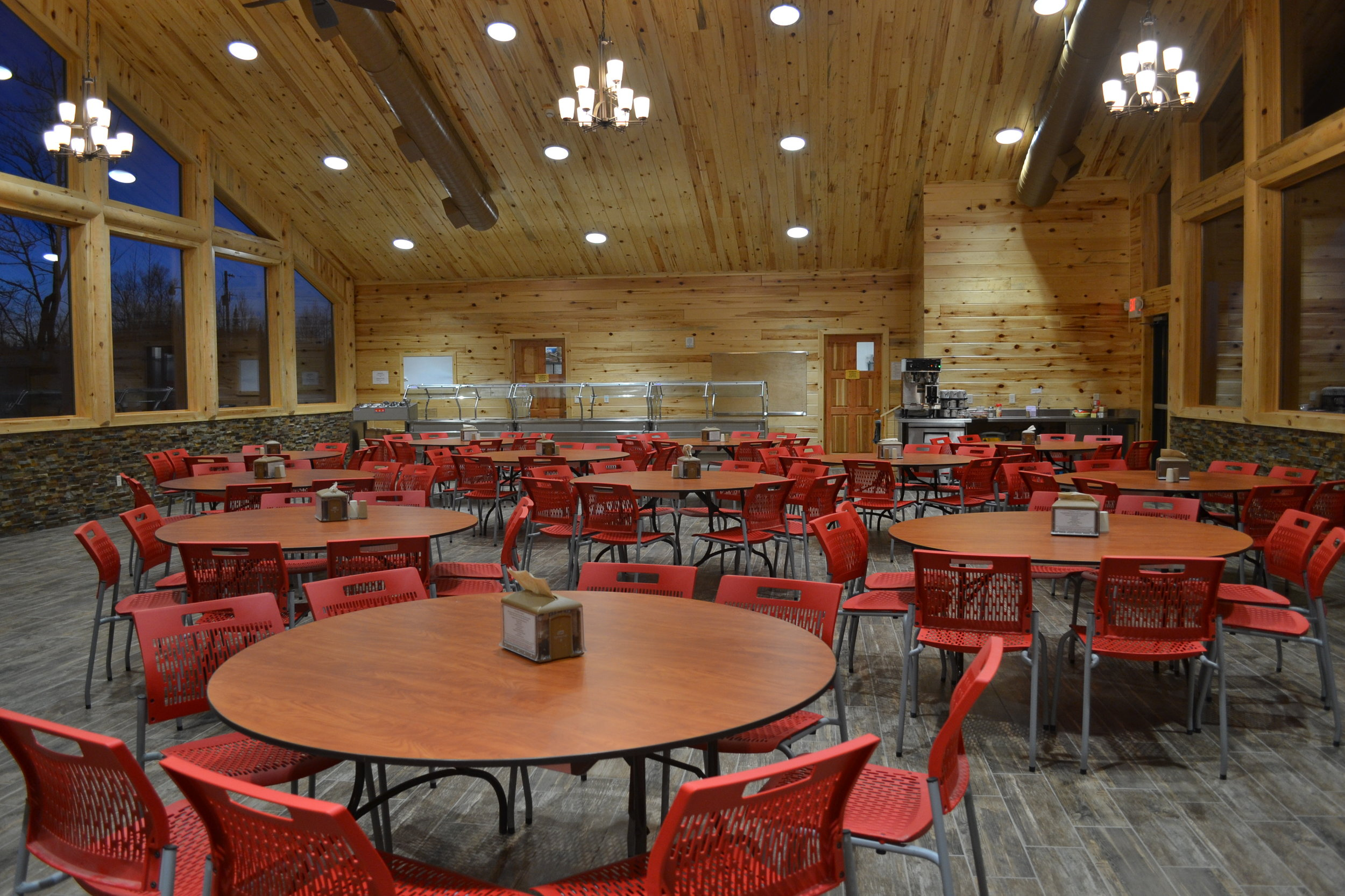 Dining hall at Camp Vermilion