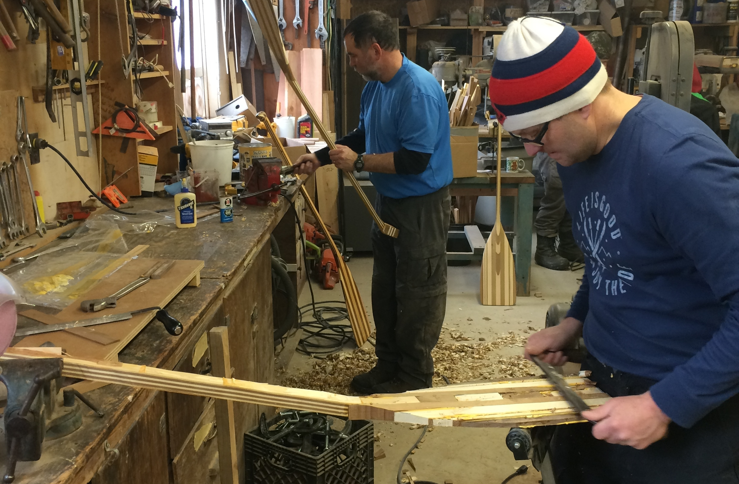 Create! - This weekend long class includes four sessions during which you will complete your own bent shaft canoe or stand up paddle board paddle. You will craft your own paddle, from gluing the wood blanks to a finished work of art.
