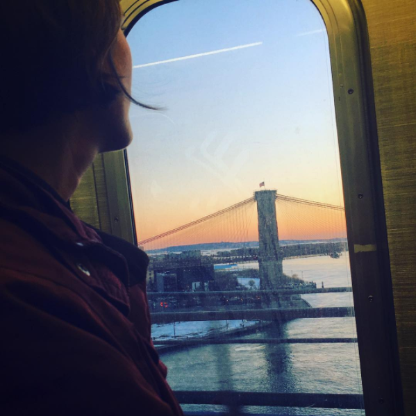 A soothing Sunday evening commute to Brooklyn with Amanda back in March