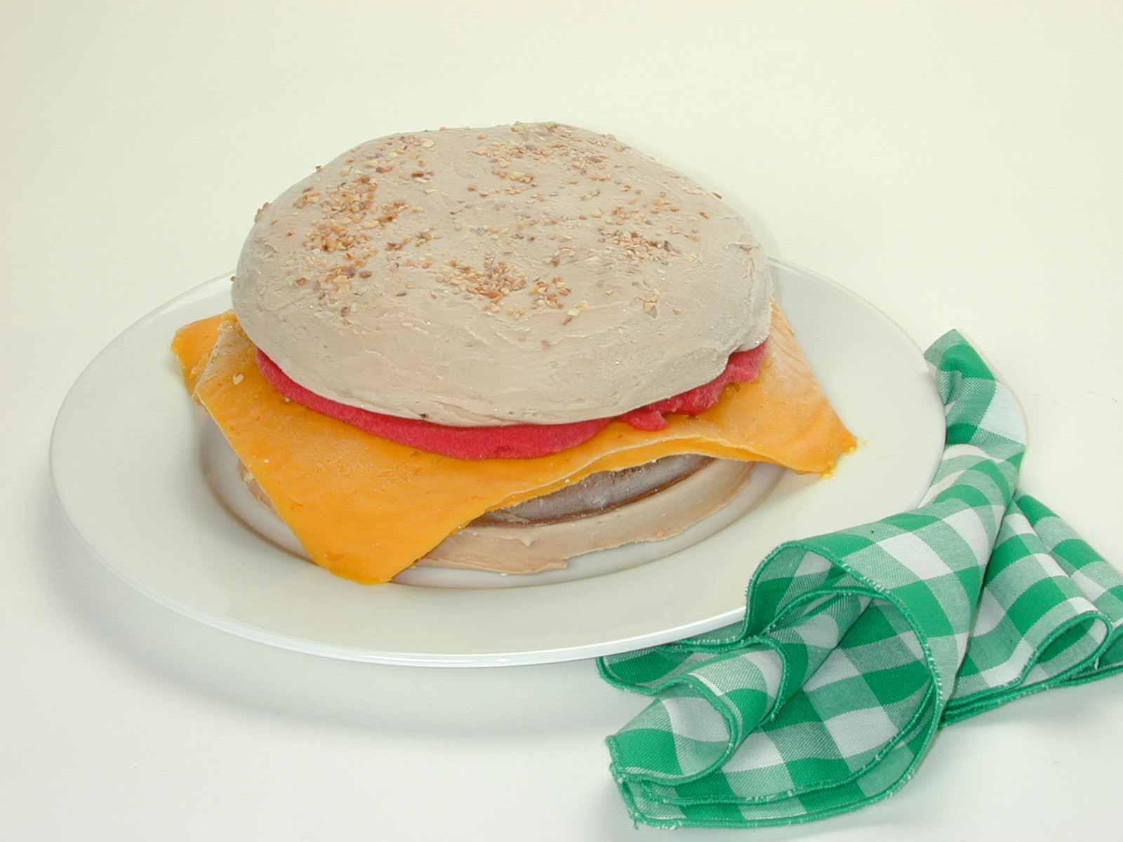 Custom Sculpted Hamburger.