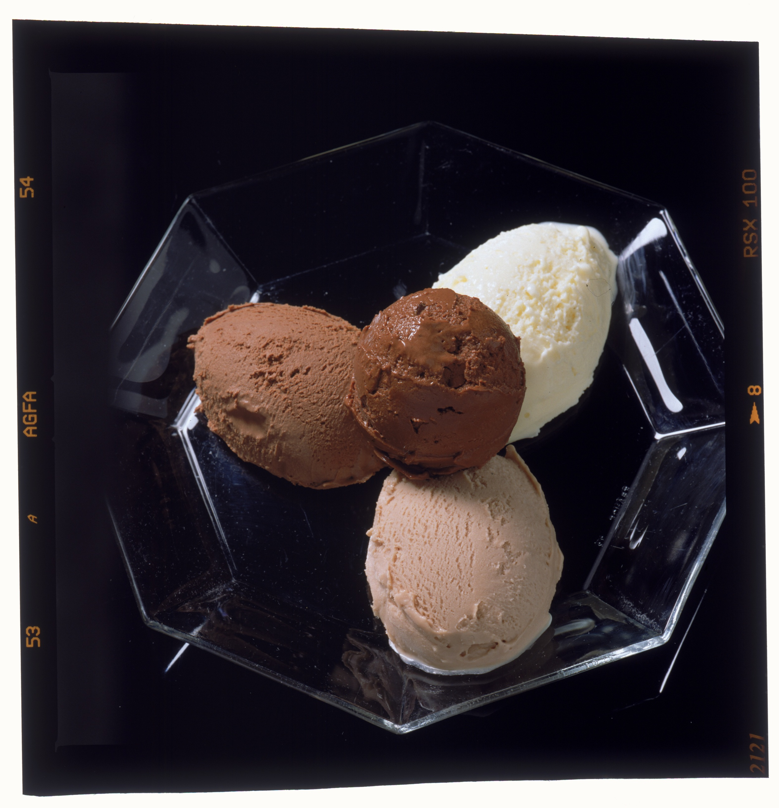 Lindt Chocolate scoops. Dark, Milk, Sorbet, White Chocolate