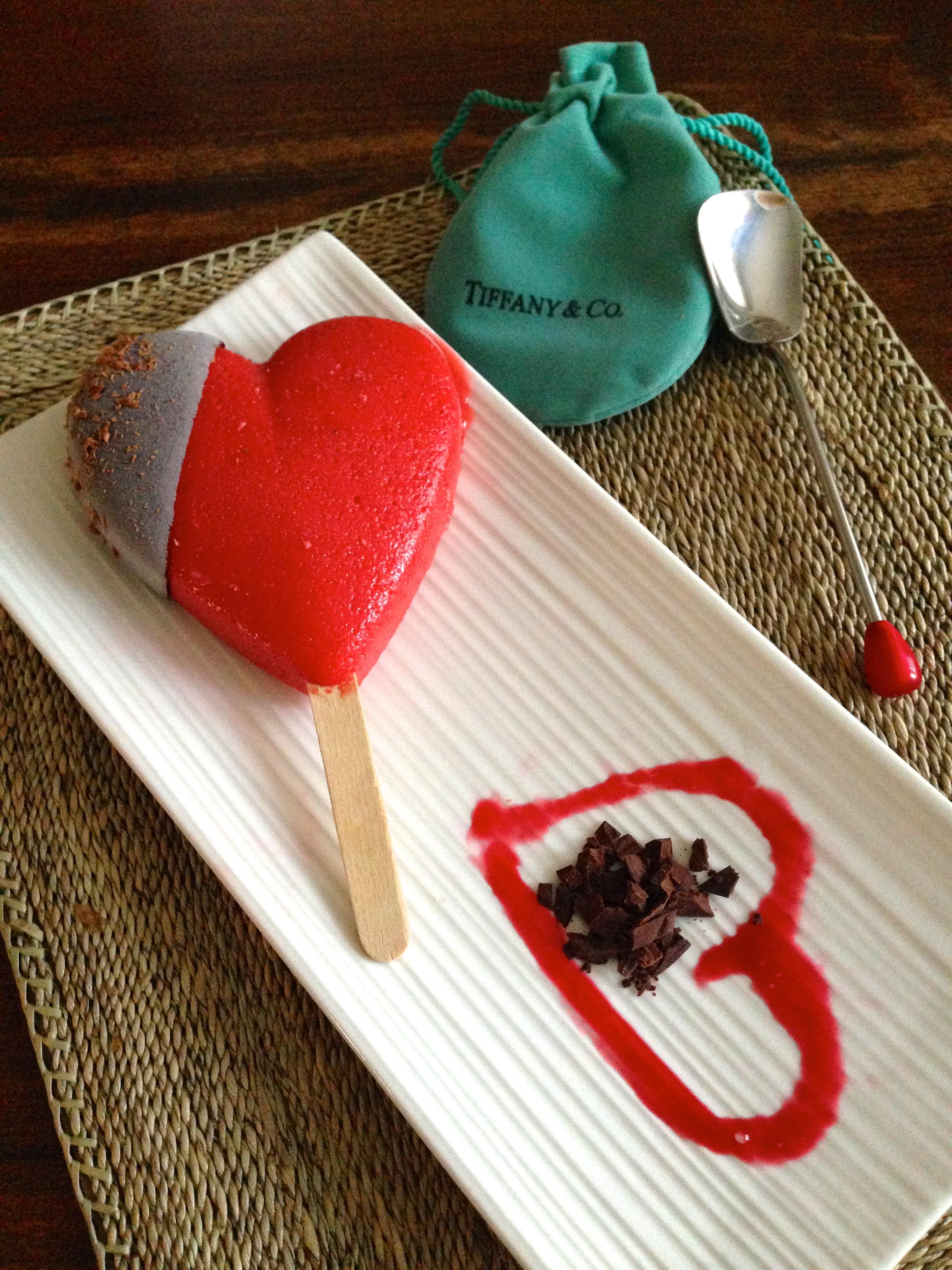 Fresh Strawberry Sorbet with Domori Dark Made to order
