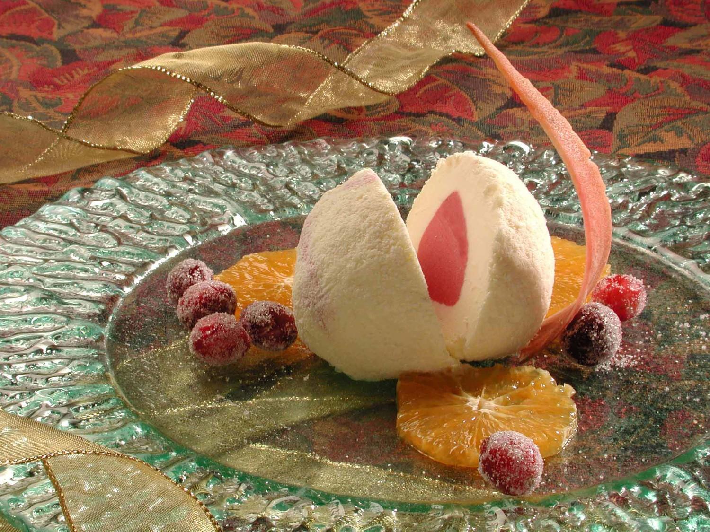 Cranberry Sorbet Lindt White Chocolate Ice cream